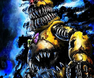 nightmare, fredbear, and fnaf4 image
