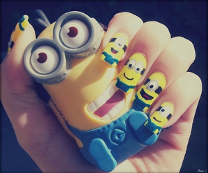minions, nails, and yellow image