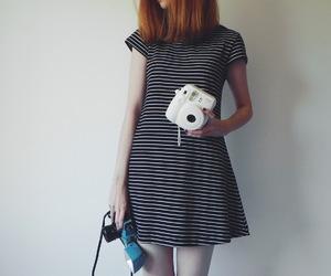 camera, instax, and dress image