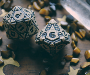 crystal, dice, and fantasy image