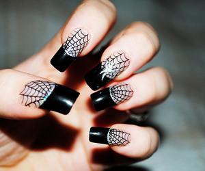 nails, spider, and black image