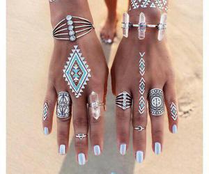 rings, nails, and summer image