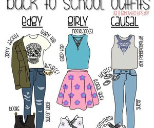 diy, school outfits, and back to school outfits image