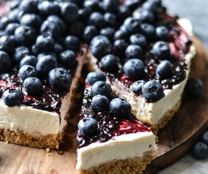 cake, blueberry, and food image