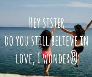sister, song, and words image