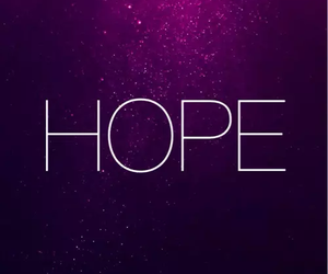 hope, quote, and purple image