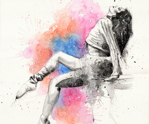 art, artistic, and ballerina image