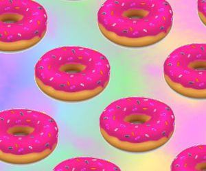 donuts, background, and pink image