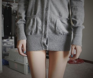 girl, legs, and sweater image