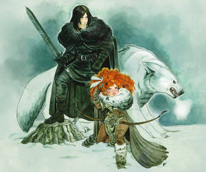 snow, game of thrones, and ygritte image