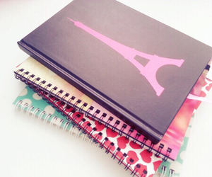 notebook and pink image
