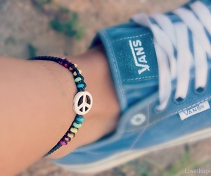 vans, blue, and peace image