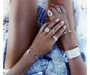 beach, fashion, and jewelry image
