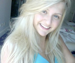 blond, hair, and smile image
