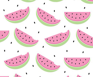 pink, watermelon, and wallpaper image