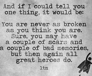 quote, hero, and broken image