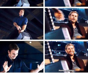 thor, captain america, and chris evans image