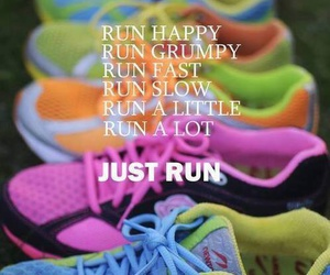 run, fitness, and shoes image