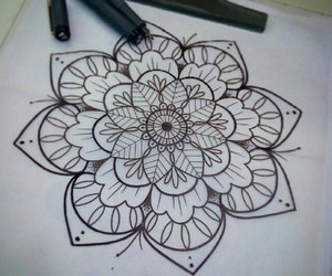 draw, drawing, and flowers image