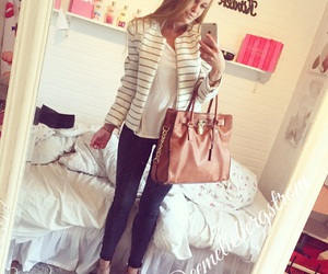 blonde, hamilton, and classy outfit image