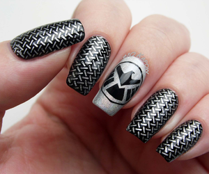 Marvel, nail art, and nails image
