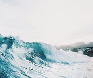 beach, summer, and wave image