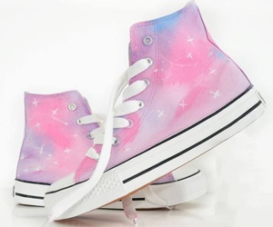 converse, shoes, and galaxy image