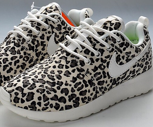 nike, leopard, and shoes image