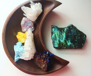 crystal, moon, and mineral image