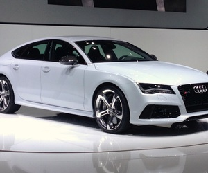 audi, white, and a7 image