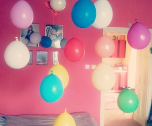 balloons, birthday, and decoration image