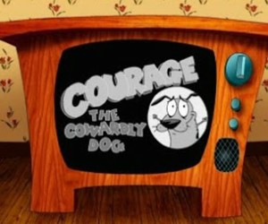courage, cartoon, and courage the cowardly dog image