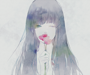 watercolor, cute, and art. anime image