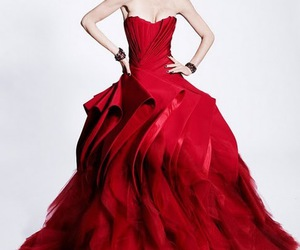 dress, red, and Zac Posen image