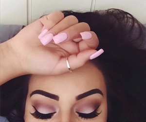 eyebrows, eyes, and hair image