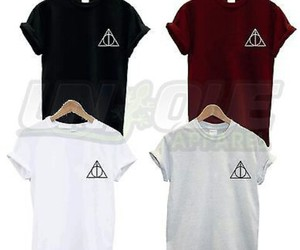 deathly hallows, harry potter, and shirt image