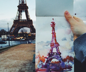 paris, art, and drawing image