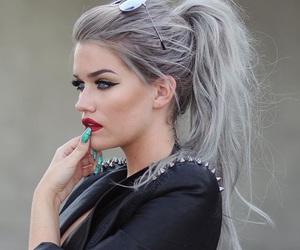 rihanna, hair, and grey image