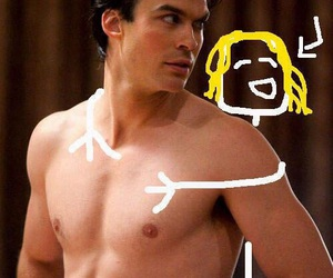 funny, hot boys, and the vampire diaries image