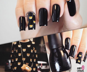 black, fashion, and nail image