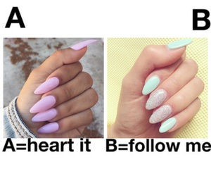 nails, follow, and heart image