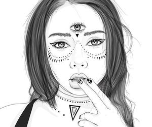draw, grunge, and lips image