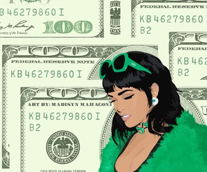 art, green, and money image