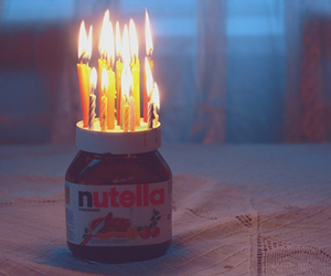 nutella, candle, and birthday image