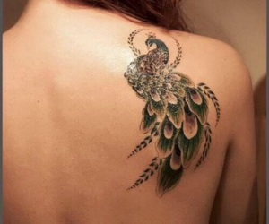 back tattoo, beautiful, and colorful image