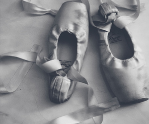 ballet, black and white, and pes image