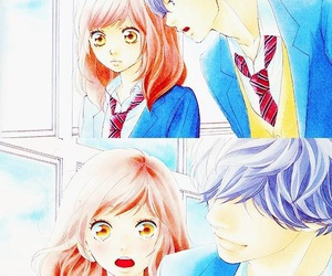 ao haru ride, anime, and couple image