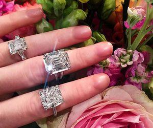 diamond, flower, and luxury image