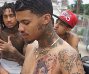 black man, Tattoos, and black men image