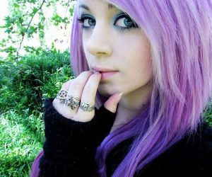 purple hair, hair, and scene image
